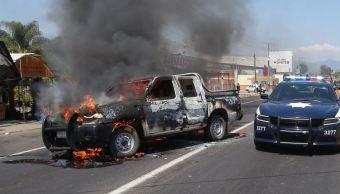 Más de 20 fueron detenidos por bloqueos y quema de vehículos en Michoacán. (EFE)