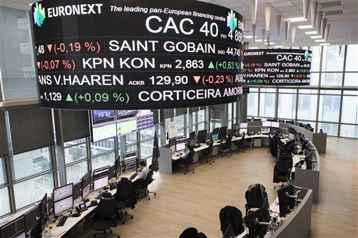 Las Bolsas europeas caen por resultados corporativos