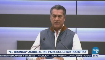 'Bronco' solicita registro en el INE