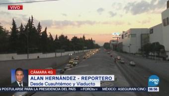 Buen avance vehicular en avenida Cuauhtémoc y Viaducto