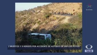 Cae Autobús Barranco San Luis Potosí