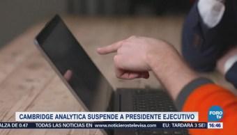 Cambridge Analytica Suspende Presidente Ejecutivo