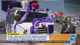 Camiones de volteo realizan procesión en Taxco, Guerrero