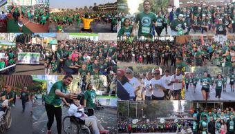 IMSS celebra 75 años de su creación con carrera en Reforma