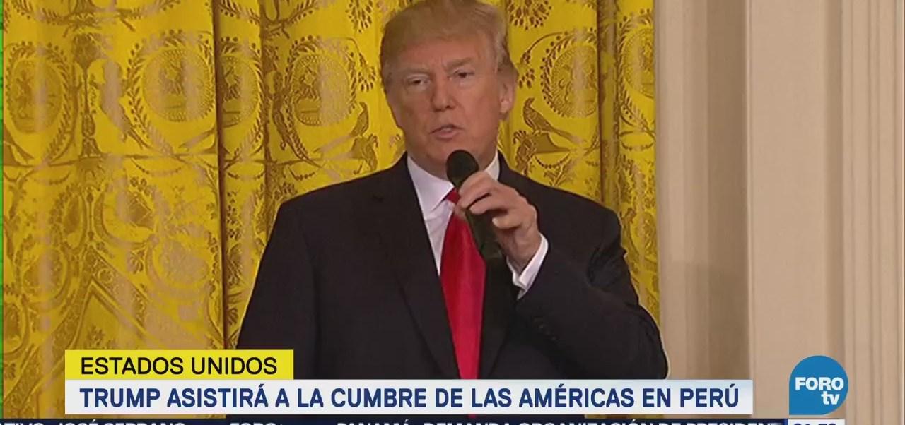 confirma asistencia de Trump a la Cumbre de las Américas