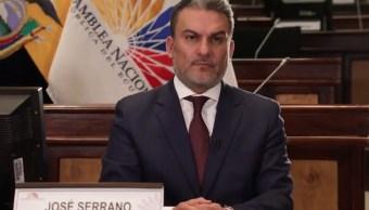 Cesan presidente Congreso Ecuador corrupción Odebrecht