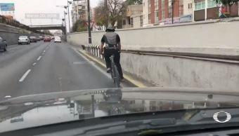 captan ciclista casco viaducto miguel aleman