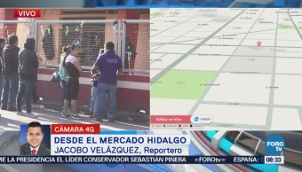 El Reportero Jacobo Velázquez Informa Desde Mercado Hidalgo