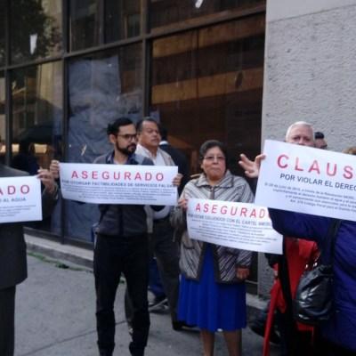 Clausuran simbólicamente oficinas de Sacmex por escasez de agua