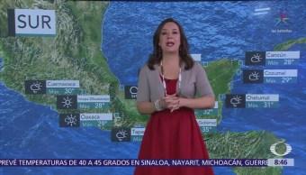 Clima al Aire: Frente frío 38 trae bajas temperaturas, calor y lluvias