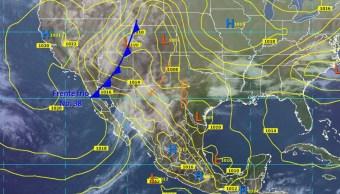 Frente frío 38 se moverá sobre el noroeste y norte de México