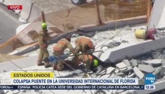 Colapsa puente en Florida; hay 6 lesionados