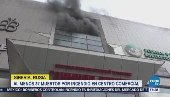 Confirman muerte de 37 personas en incendio en centro comercial de Siberia