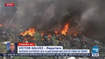Continua Incendio Predio Isidro Fabela Edomex