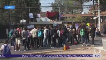 Continúa paro de estudiantes en la preparatoria 5 de la UNAM