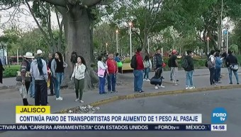 Continúa Paro Transportistas Guadalajara