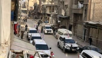 convoy lleva ayuda humanitaria para guta oriental siria