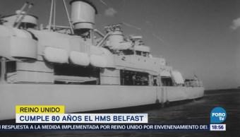 Cumple 80 años el HMS Belfast en Reino Unido