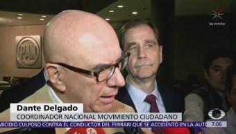Dante Delgado acusa al secretario de Gobernación de estar detrás de ataques contra Anaya