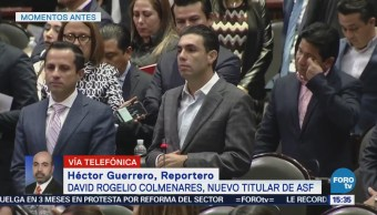 David Rogelio Colmenares, nuevo titular de la ASF