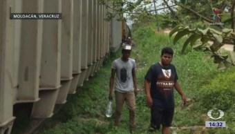 Descarrila Tren Con Migrantes Veracruz