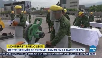 Destruyen más de 3 mil armas en Monterrey NL