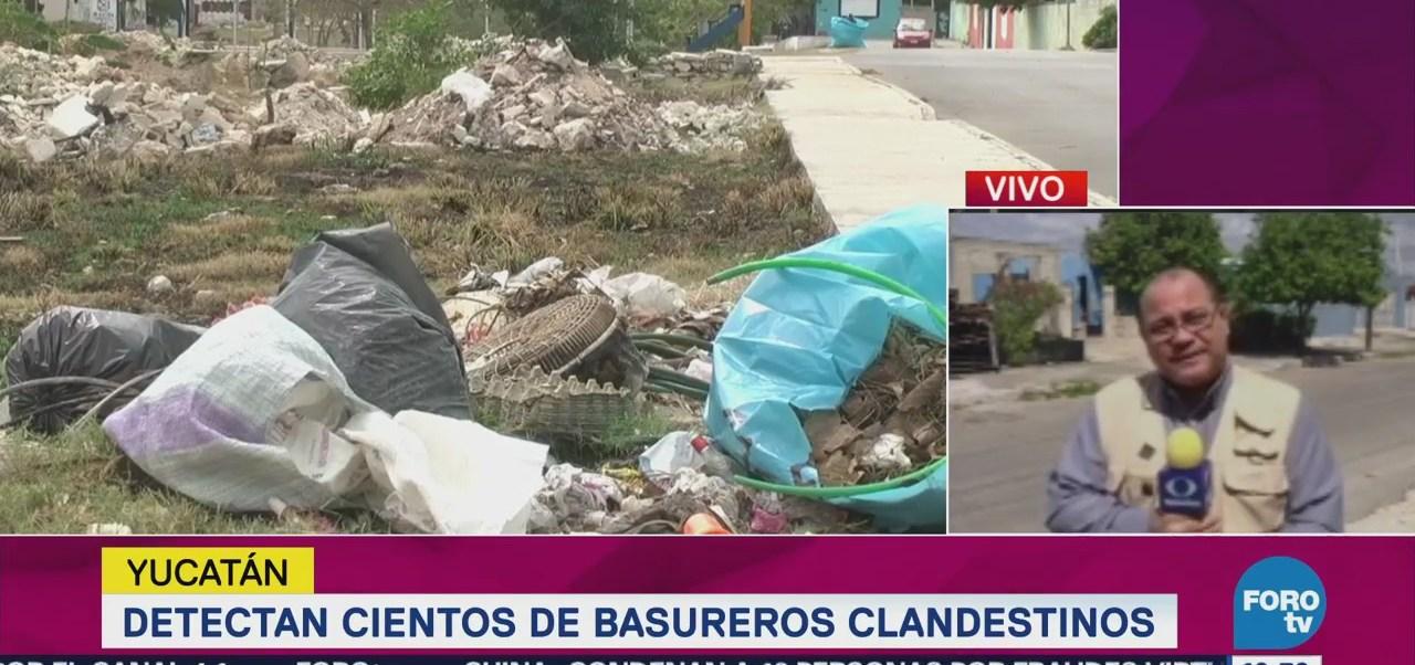 Detectan cientos de basureros clandestinos en Yucatán