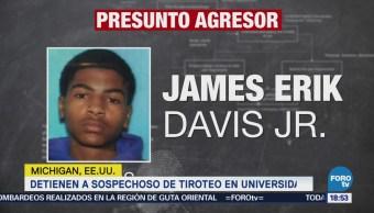 Detienen a sospechoso de tiroteo en universidad de Michigan, EU