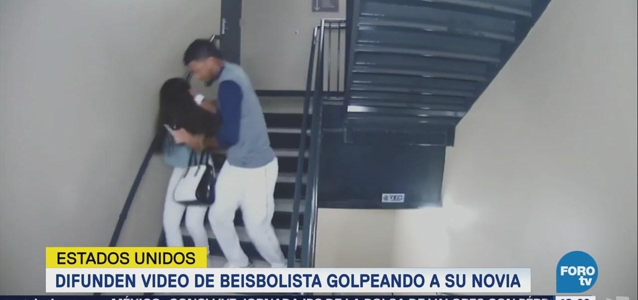 Difunden video de beisbolista golpeando a su novia