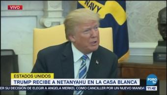 Donald Trump recibe a Netanyahu en la Casa Blanca