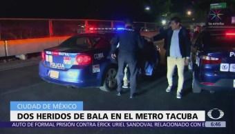 Dos lesionados por balazos al interior del Metro Tacuba CDMX