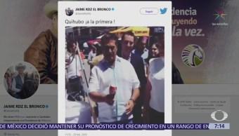 'El Bronco' emula a AMLO y juega al balero, escribe en Twitter: 'Quihubo ¡a la primera!