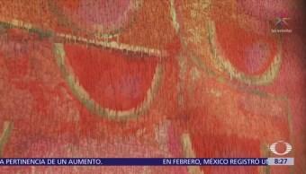En Japón, tejen a mano el 'Telón de las sandías' de Rufino Tamayo