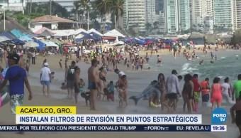 Endurecen Revisión Zonas Turísticas Acapulco Contra Violencia