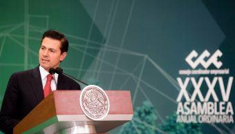 EPN pide a CCE trabajar para preservar logros de México