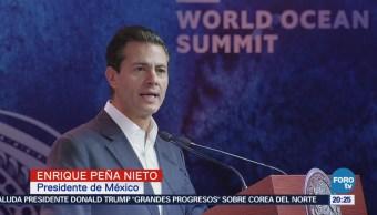 EPN inaugura Cumbre Mundial del Océano