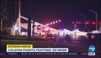 Equipos de emergencia continúan trabajos en puente colapsado de Miami