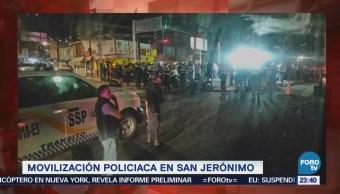 Se registra balacera en San Jerónimo
