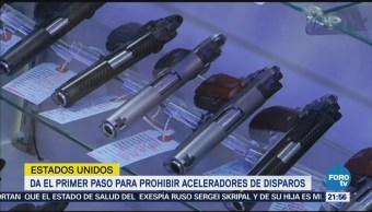 Estados Unidos da el primer paso para prohibir aceleradores de disparos