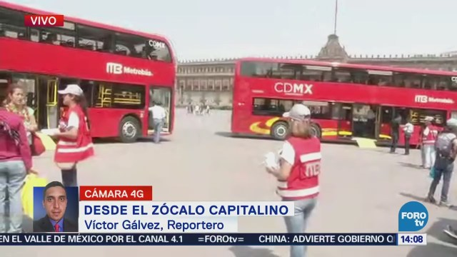 Exhiben Unidades Panorámicas Metrobús Zócalo Cdmx