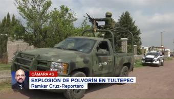 Explosión de polvorín en Tultepec deja un muerto