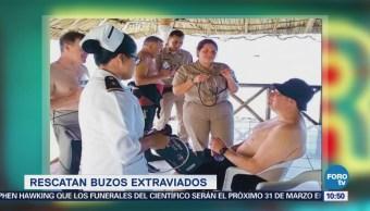 Extra Extra: Rescatan a buzos extraviados en Cozumel