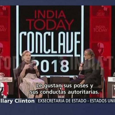 Hillary Clinton: EU no merece la presidencia de Trump