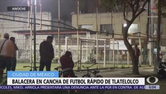 Hombres en moto disparan a jóvenes que jugaban futbol en Tlatelolco, CDMX