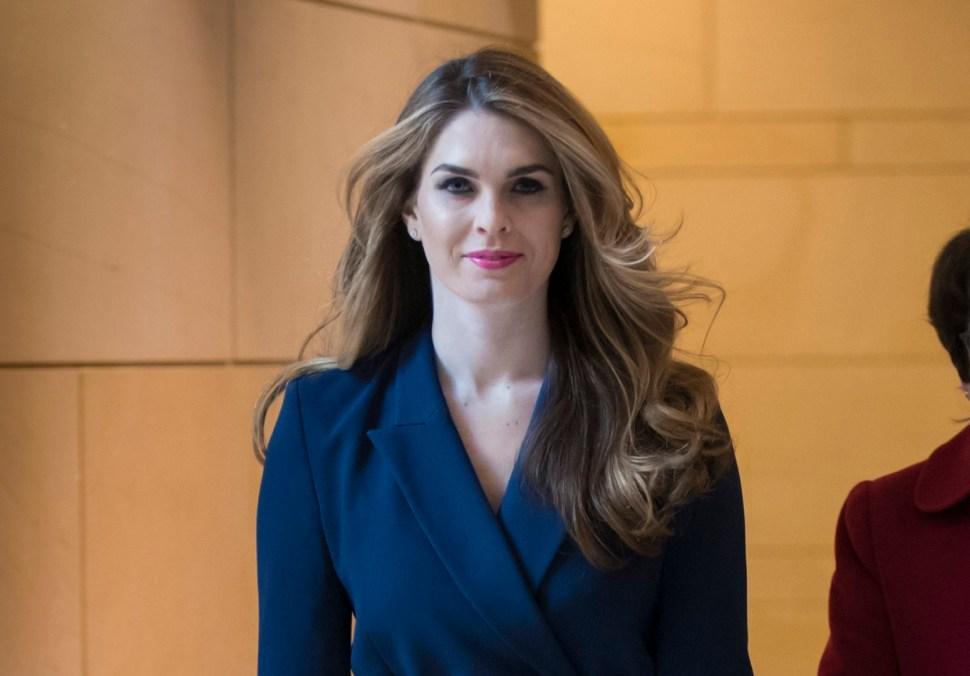 Hope Hicks, directora de Comunicación de la Casa Blanca