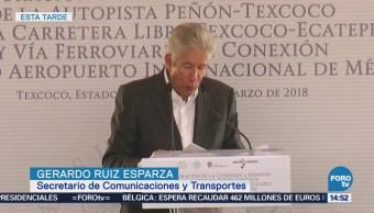 Inauguran Entronque Peñón Texcoco Vía Ferroviaria Penetración Nuevo Aeropuerto
