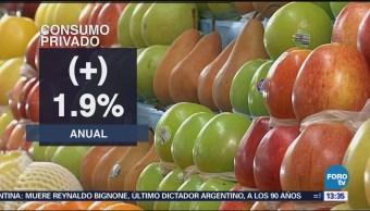 INEGI: Consumo privado en mercado interno aumenta 1.3% en diciembre
