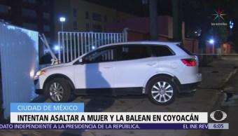 Intenta robar camioneta a mujer y la balean en Coyoacán