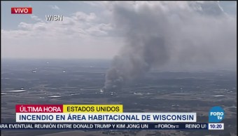 Intentan sofocar incendio en Wisconsin