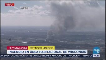 Intentan sofocar incendio en Wisconsin